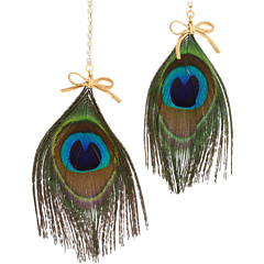 Betsey Johnson Asian Jungle Peacock Drop Earrings